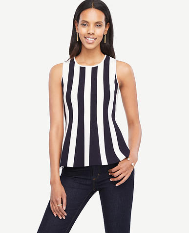 Image of Petite Striped Peplum Tank