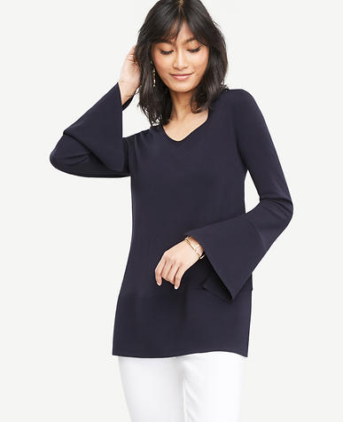 Image of Petite Slit Bell Sleeve Tunic