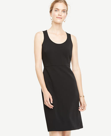 Image of Exposed Back Zip Sheath Dress