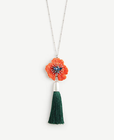 Image of Textured Floral Tassel Pendant