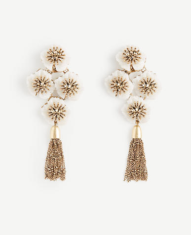 Image of Textured Floral Statement Earrings