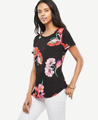 Image of Tall Garden Bouquet Piped Tee
