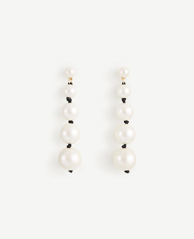 Knotted Pearlized Drop Earrings