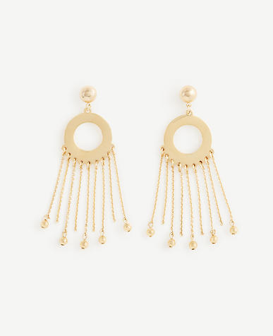 Circle Chain Statement Earrings