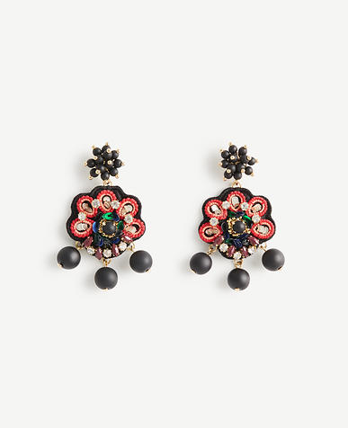 Embroidered Statement Earrings