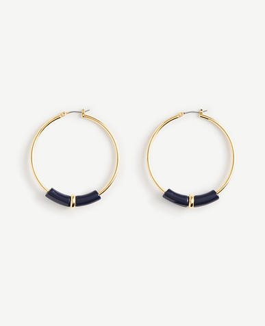 Image of Small Resin Hoop Earrings