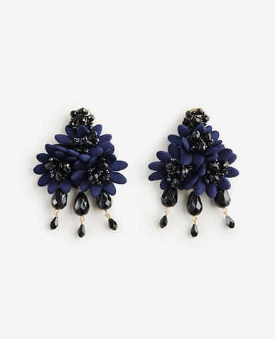 Floral Fabric Statement Earrings