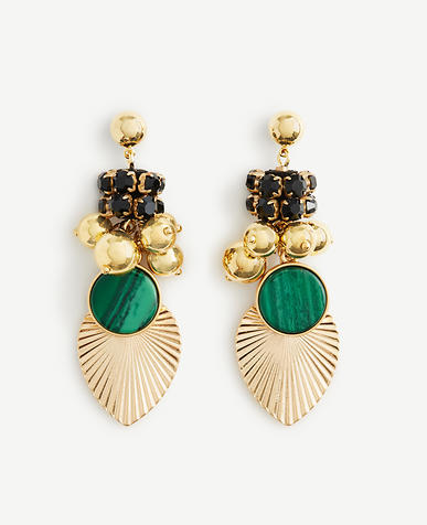 Image of Pleated Charm Statement Earrings