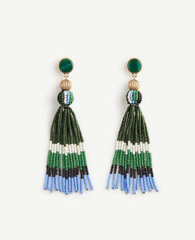 Variegated Seed Tassel Earrings