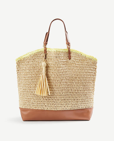 Image of Straw Carryall Tote