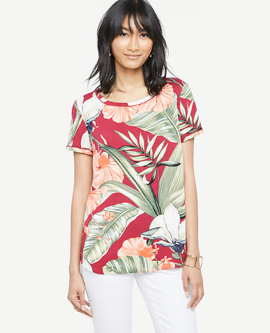 Image of Island Floral Piped Tee