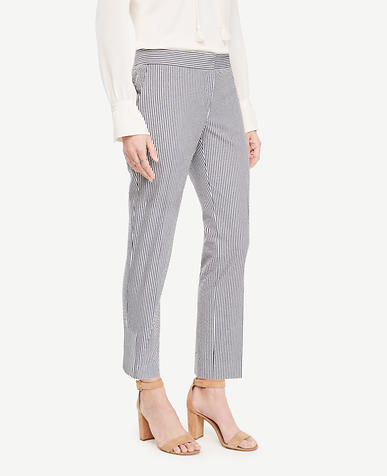 Image of The Petite Ankle Pant in Seersucker - Kate Fit