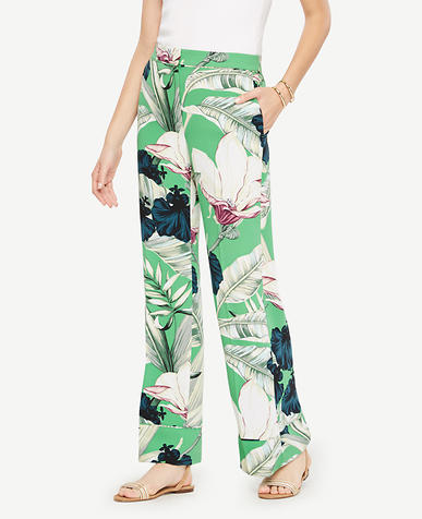 Image of Palm Leaf Pajama Trousers