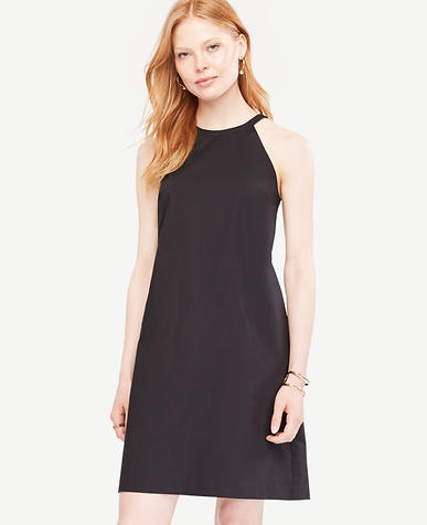 Image of Poplin Halter Shift Dress