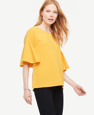 Image of Matte Jersey Bell Sleeve Top