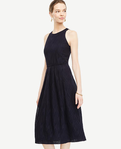 Image of Petite Eyelet Swirl Midi Dress