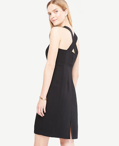 Image of Petite Sleeveless Cross Back Sheath Dress