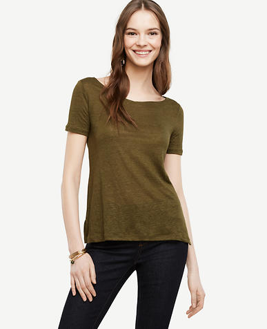 Image of Modern Linen V-Neck Tee