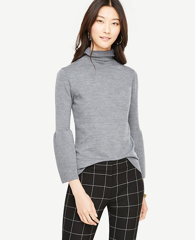 Fluted Extrafine Merino Wool Sweater