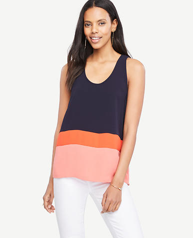 Image of Strappy Colorblock Tank