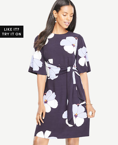 Orchid Tie Front Dress