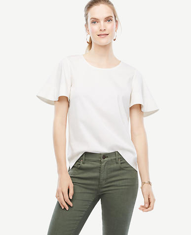 Image of Pima Cotton Flutter Tee