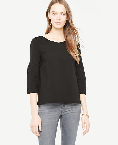 Image of Lantern Sleeve Double V Top