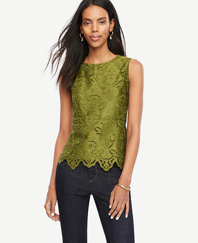 Image of Botanical Lace Peplum Top