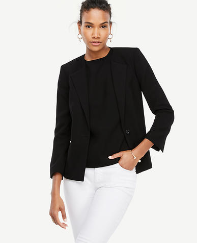 Image of Doubleweave Collarless Blazer