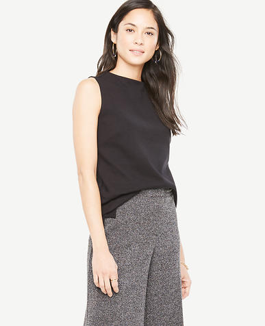 Image of Sleeveless Mock Neck Top