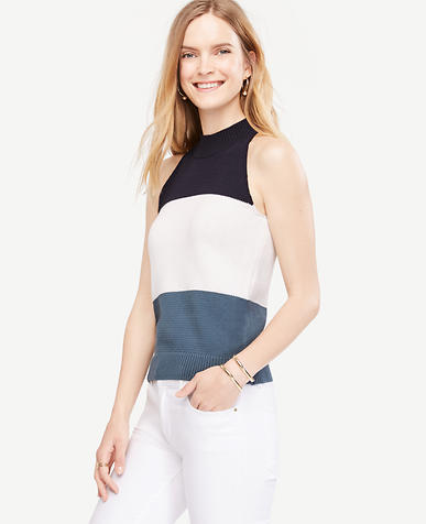Image of Petite Colorblock Essential Halter Top