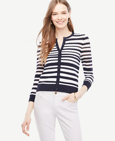 Image of Petite Textured 3/4 Sleeve Ann Cardigan