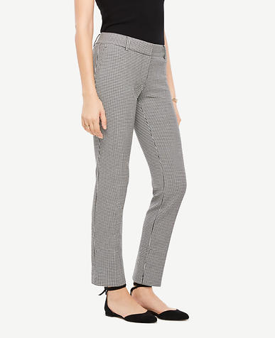 The Ankle Pant In Mini Houndstooth - Devin Fit