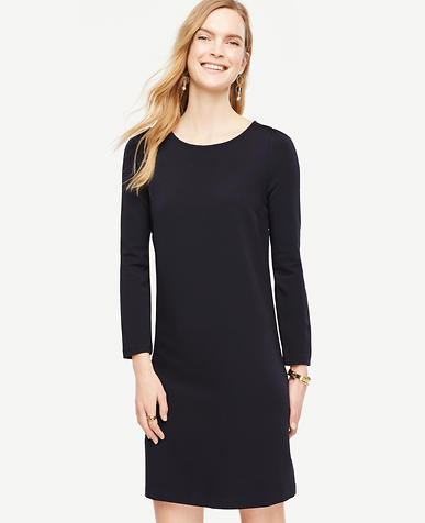Image of Ponte Puff Sleeve Shift Dress