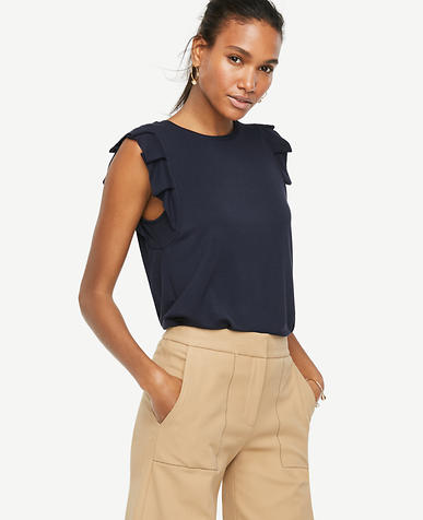 Image of Pleated Sleeveless Top