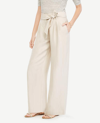 Image of The Petite Tie Waist Wide Leg Pant