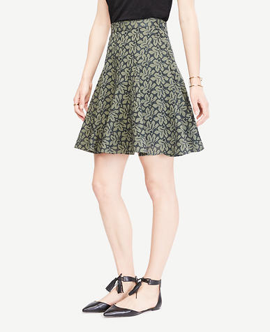 Image of Floral Eyelet Full Skirt