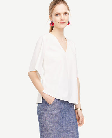 Image of Crepe Jersey Wide Sleeve Top