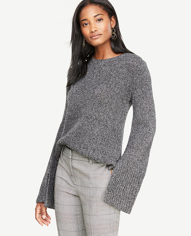 Cashmere Boucle Slit Cuff Sweater