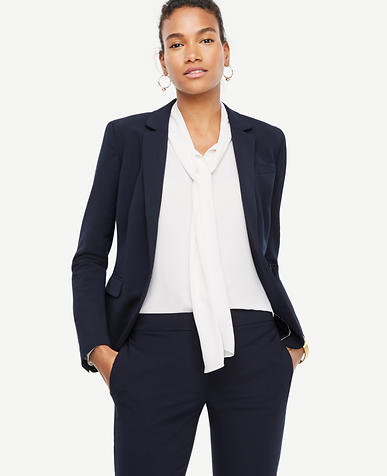 Seasonless Stretch One Button Perfect Blazer