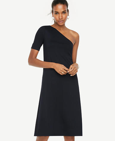 Image of One Shoulder Shift Dress