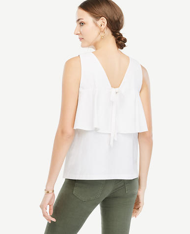 Image of Bow Back Peplum Top