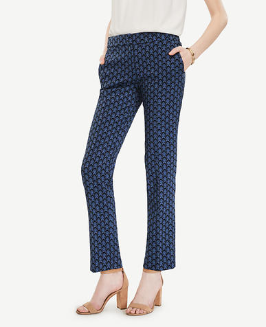 Image of The Petite Ankle Pant in Petal Jacquard - Kate Fit