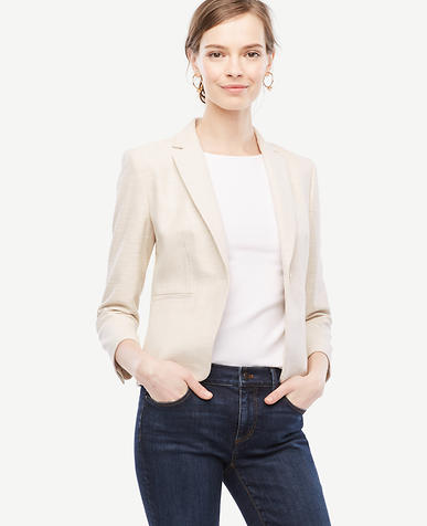 Image of Petite Textured Newbury Blazer