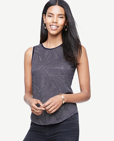 Image of Sleeveless Linen Sunday Tee - In Dots