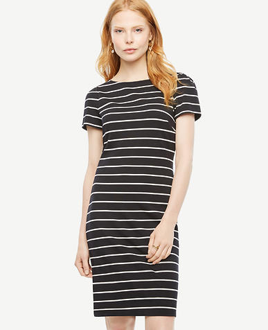 Image of Striped Ponte Sheath Dress