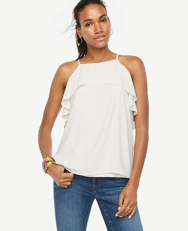 Image of Overlay Halter Shell-P