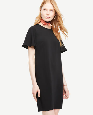 Image of Ruffle Sleeve Shift Dress