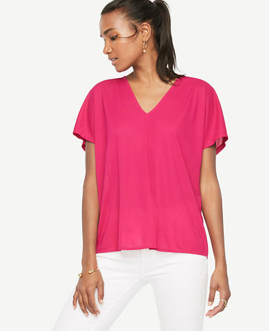 Image of Petite Shirred Back Top