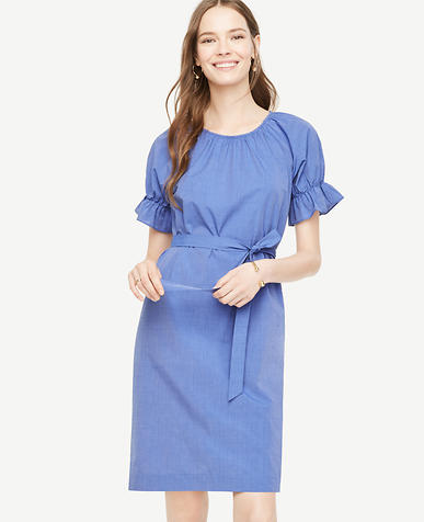 Image of Puff Sleeve Shift Dress